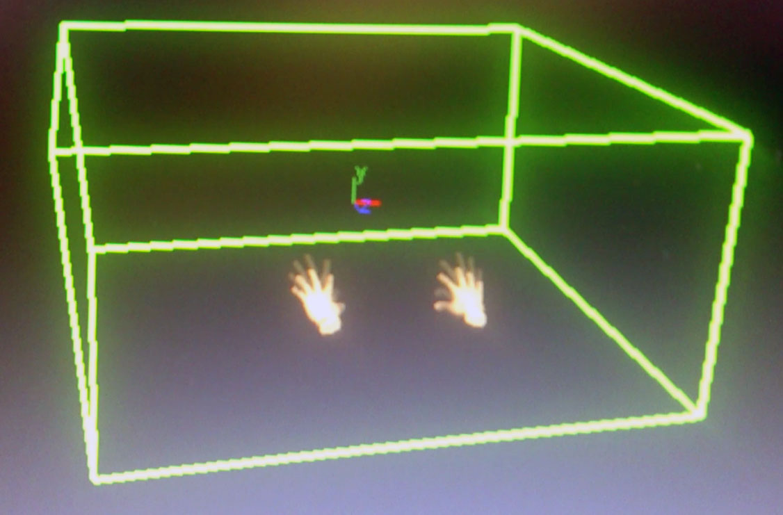 Hands aligned in gameworks simulation