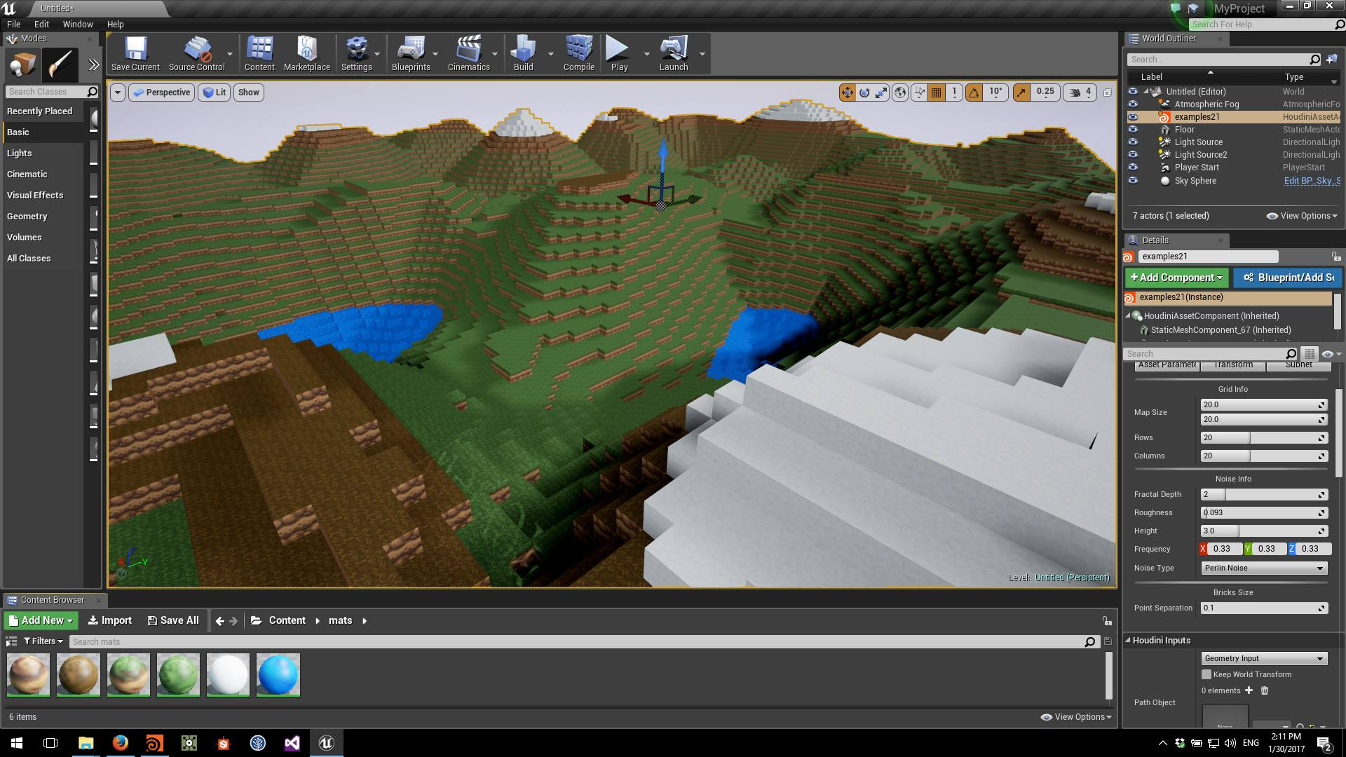MineCraft Houdini Procedural Asset for Unreal Engine – Barakooda